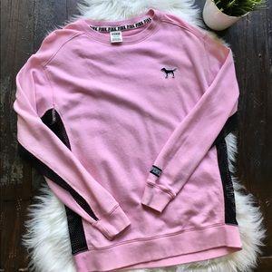 Victoria's Secret PINK Mesh Sides Sweatshirt SMALL